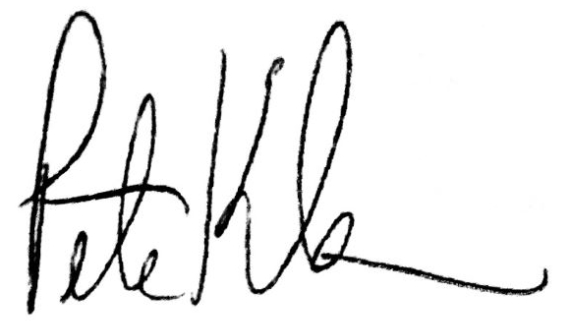 Peter Klam's Signature